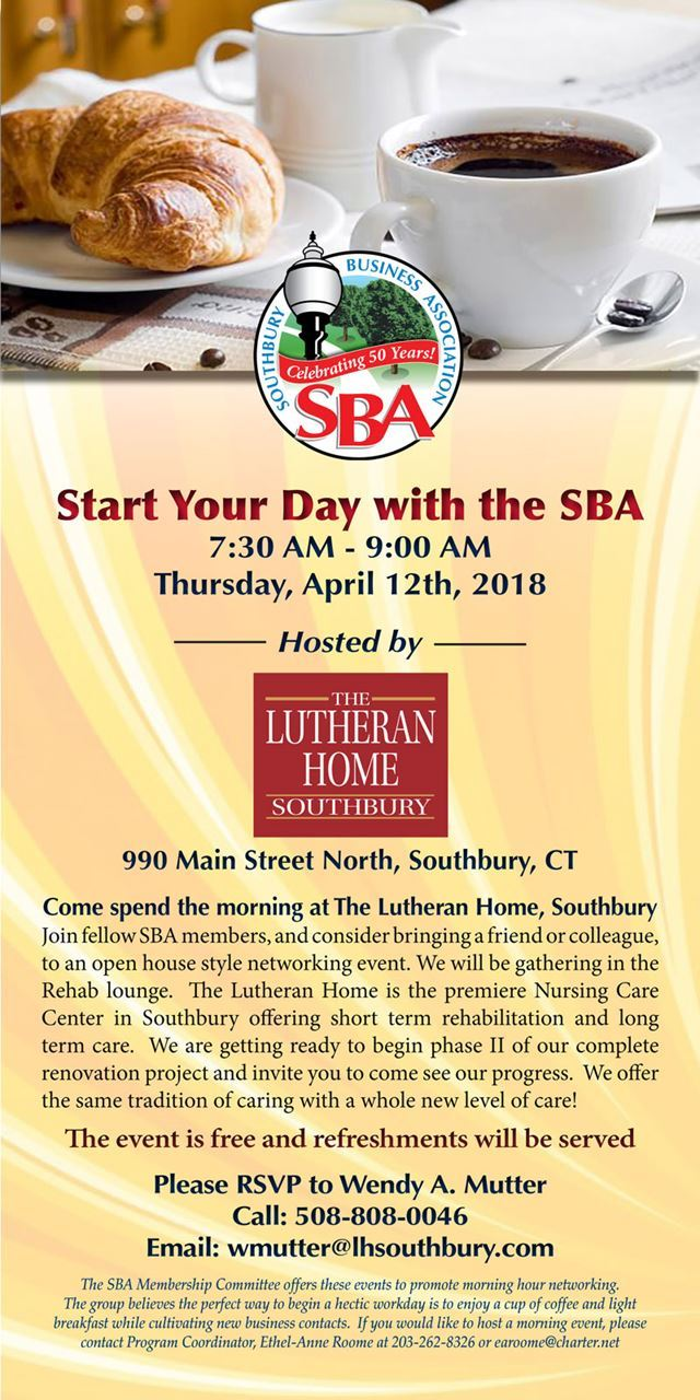 Southbury Business Association Start Your Day At Lutheran Home Of